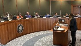 Glynn Price explains the rental assistance program to the Bossier Parish Police Jury.