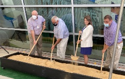 Bossier Parish Administrator Bill Altimus and police jury members Chris Marsiglia, Julianna Parks and Philip Rodgers joined the dirt-turning ceremony.