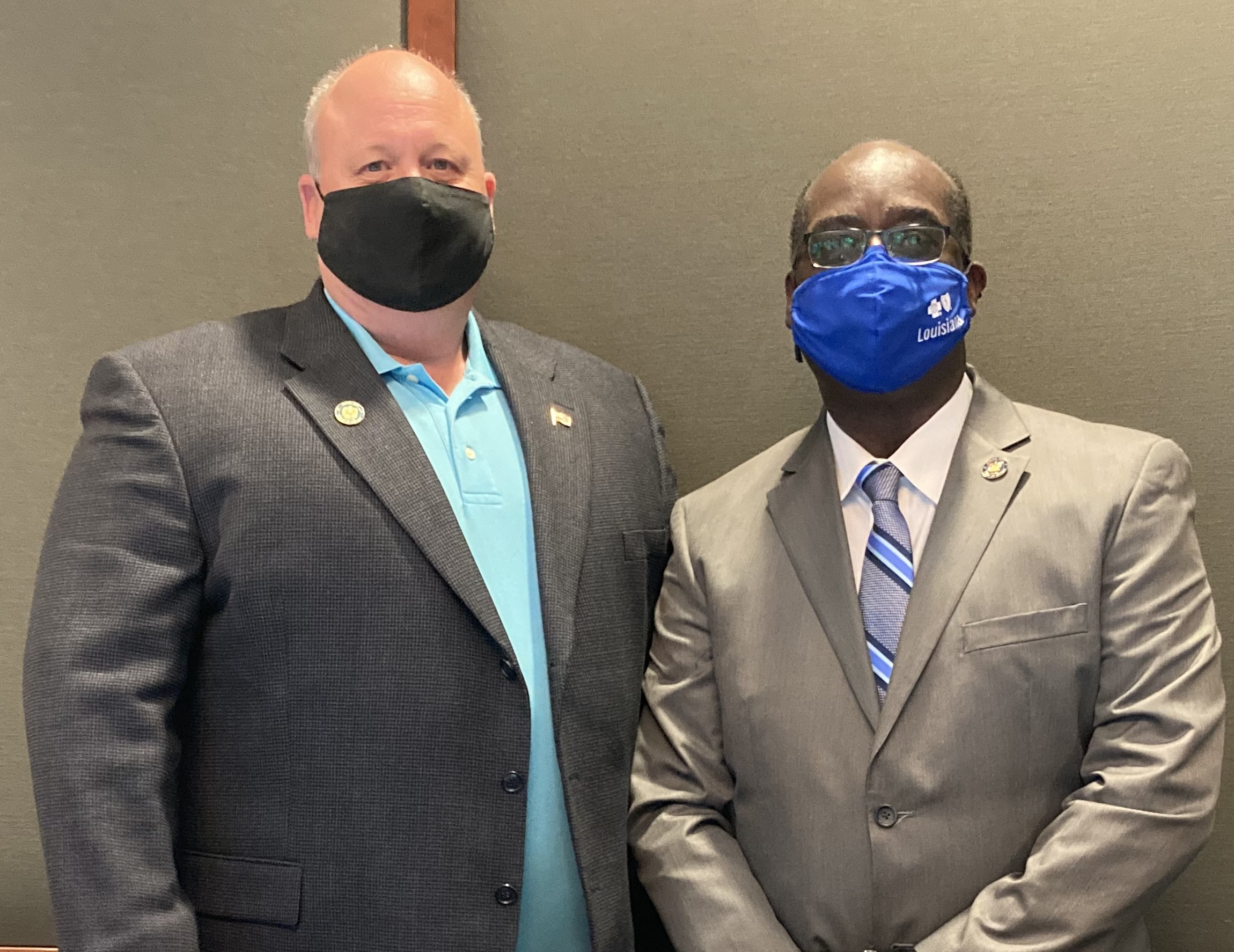 Jerome Darby (right) was named president of the Bossier Parish Police Jury Wednesday, while Tom Salzer was picked vice president.