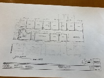 Plans for the fourth floor renovation.