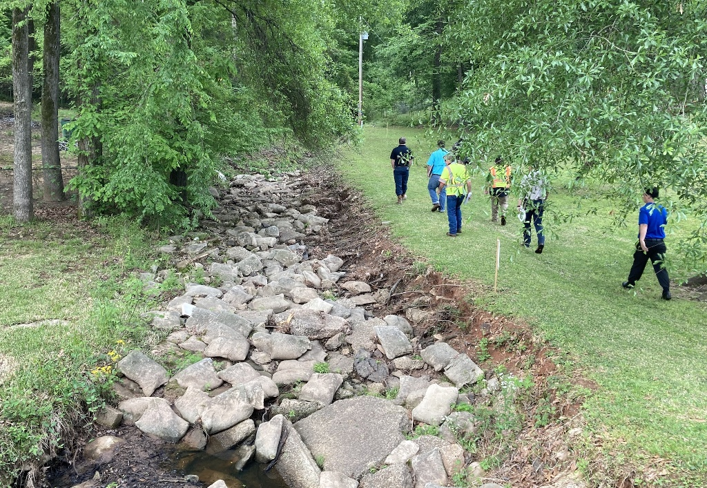 Views of the current drainage ditch.